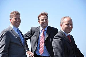 Fourth generation. From left to right E.J. Ottevanger, E.W. Ottevanger and R.A. Ottevanger